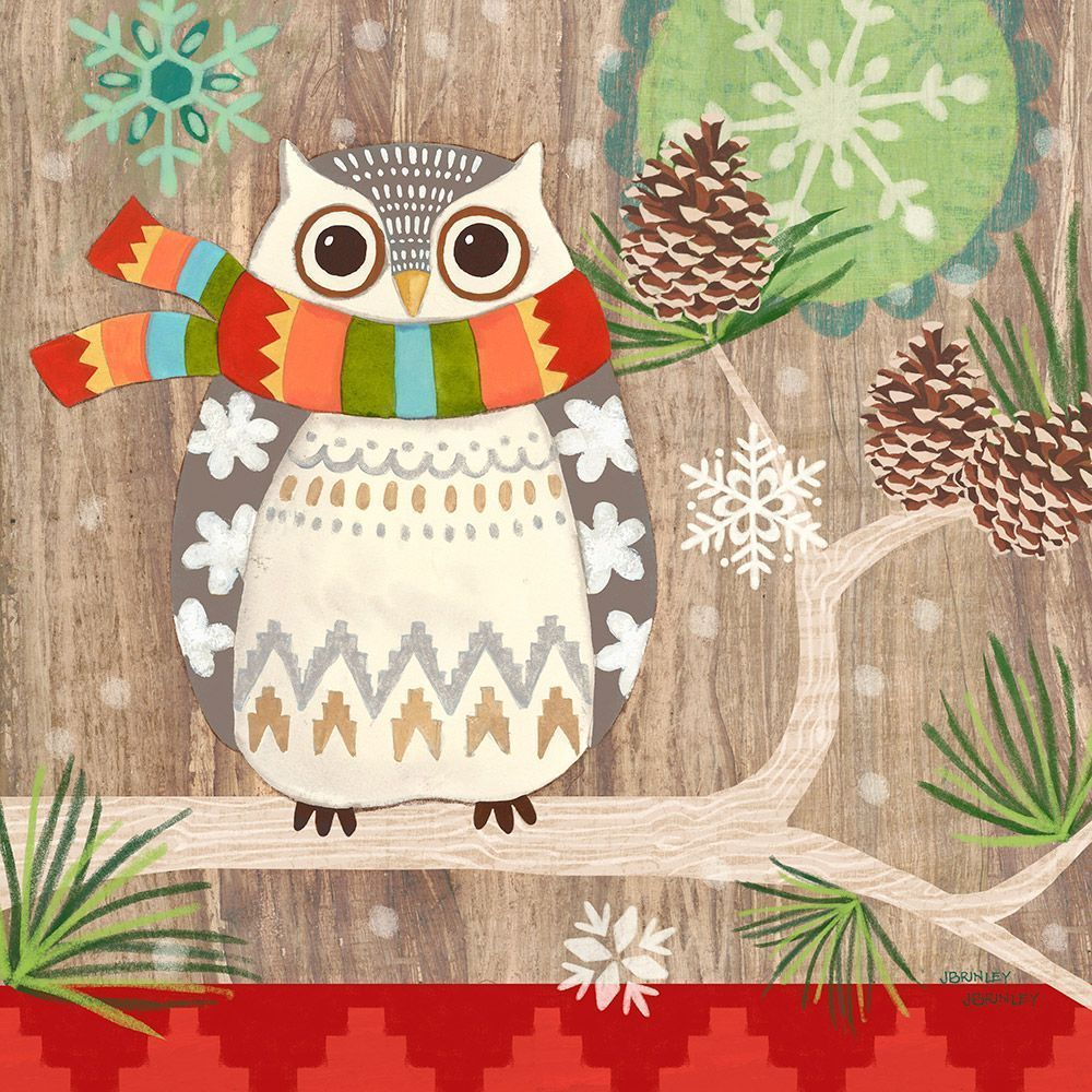 Салфетки бумажные owl with scarf 20 шт. Paperproducts Design