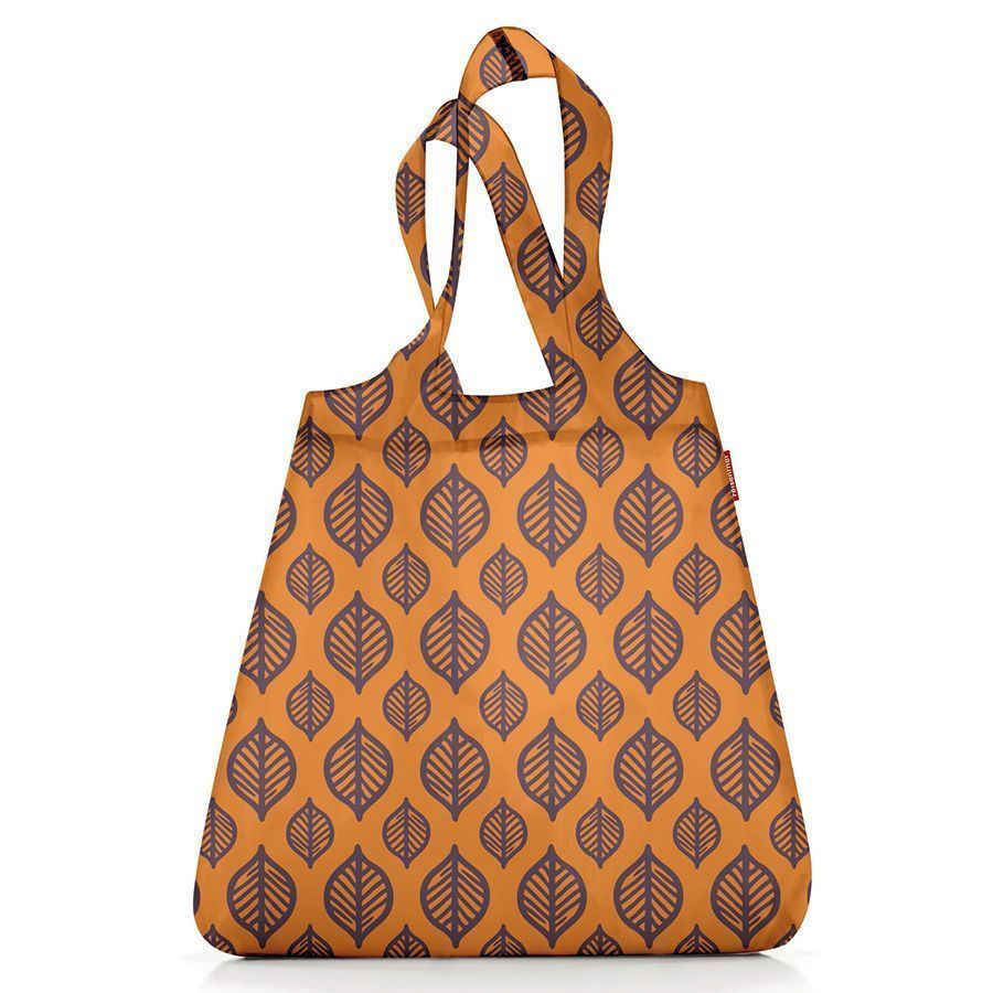 Сумка складная mini maxi shopper orange leaves